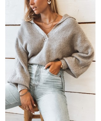 PULL MAXOU GRIS